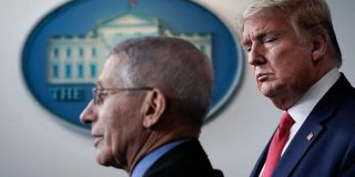 The Trump administration is backing down from its war with Dr. Fauci
