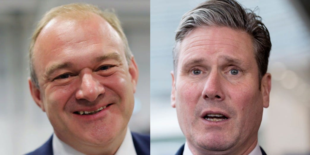 Ed Davey says the Liberal Democrats must work together with Keir Starmer to defeat Boris Johnson