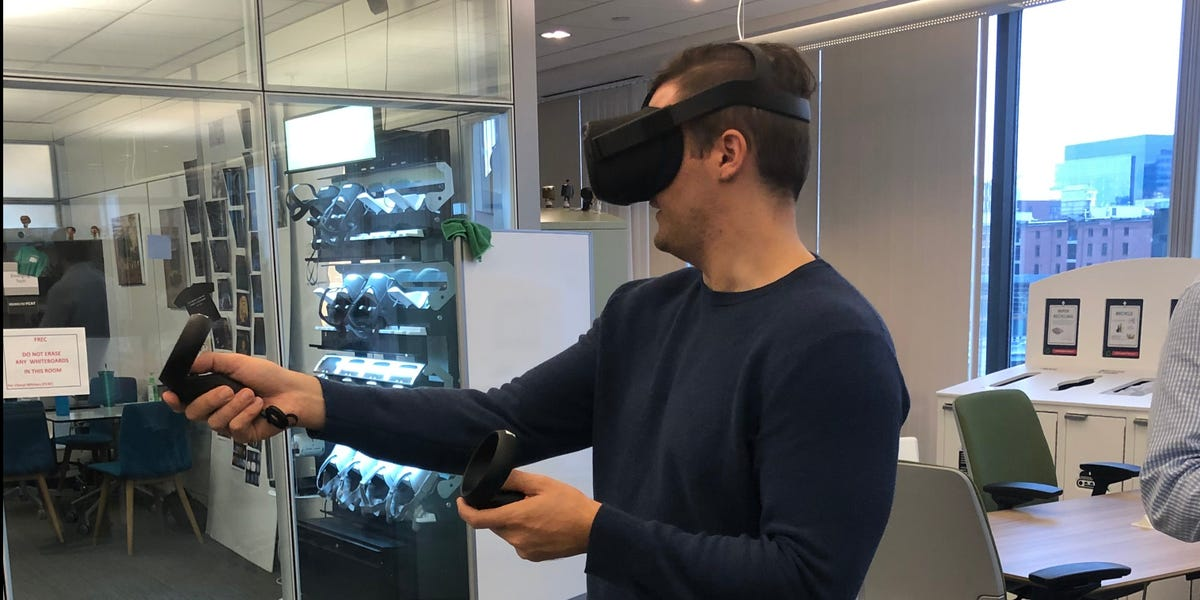 We got an exclusive inside look at Fidelity's innovation lab where the $8 trillion investment giant is prototyping VR systems for meeting financial advisors and explaining quantum computing