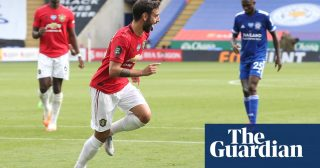 Manchester United reach Champions League after Fernandes sinks Leicester