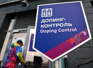 The Doping Control station during the Sochi 2014 Olympic Games in Russia.