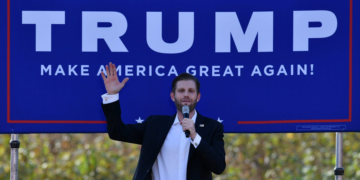 Eric Trump tried to make Biden look corrupt by sharing a picture of a palatial house he claims the Democrat lives in — but Biden sold it 24 years ago
