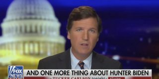 Tucker Carlson celebrated getting his vanished documents back, but gave no details of how or why they are 'damning' for the Biden campaign