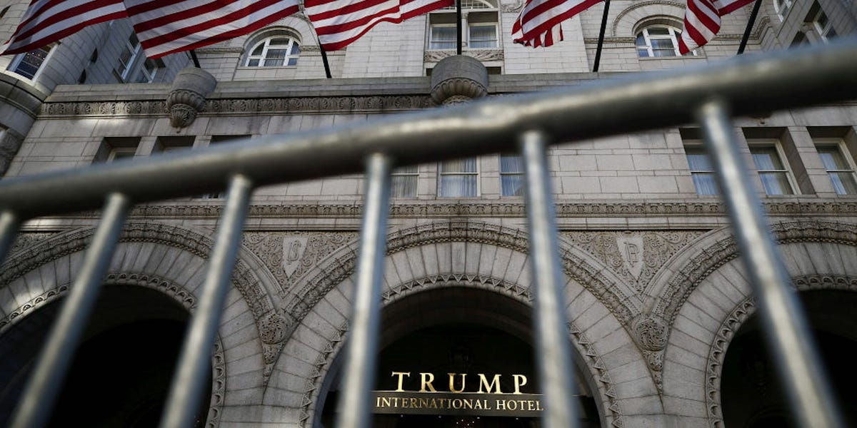 Michigan GOP officials were pictured drinking champagne in the lobby of Trump's luxury DC hotel after meeting the president to discuss attempts to overturn the election result