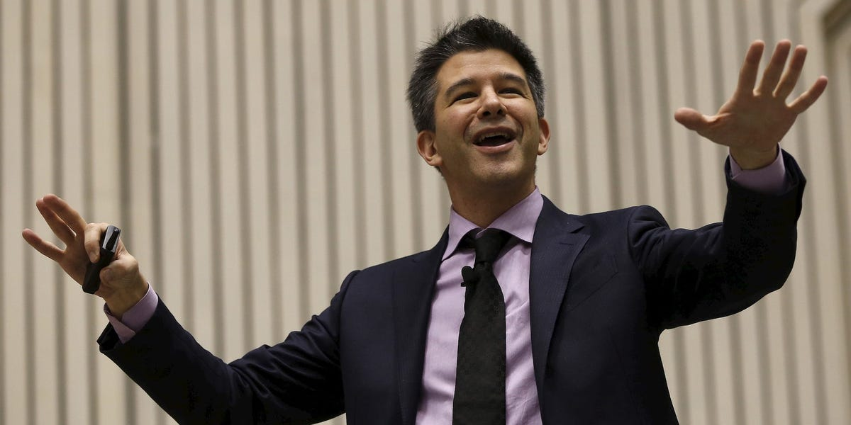 A leaked copy of Uber's employee handbook reveals how the ride-hailing giant has grown up since Travis Kalanick joked about not being able to sleep with employees (UBER)