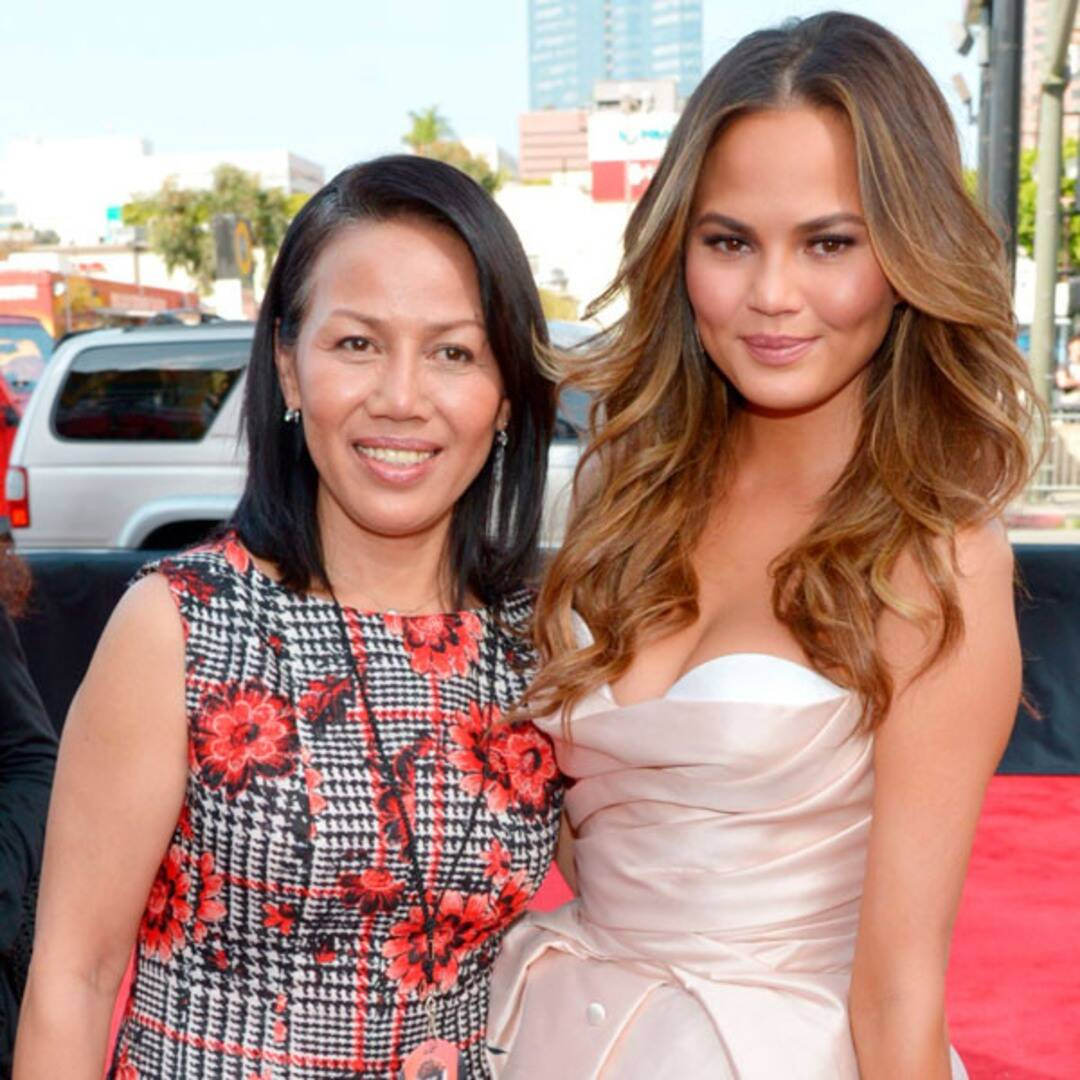 """Chrissy Teigen Cuddles With Her Mom After Sharing She Had the """"Hardest 4 Days of My Life"""""""