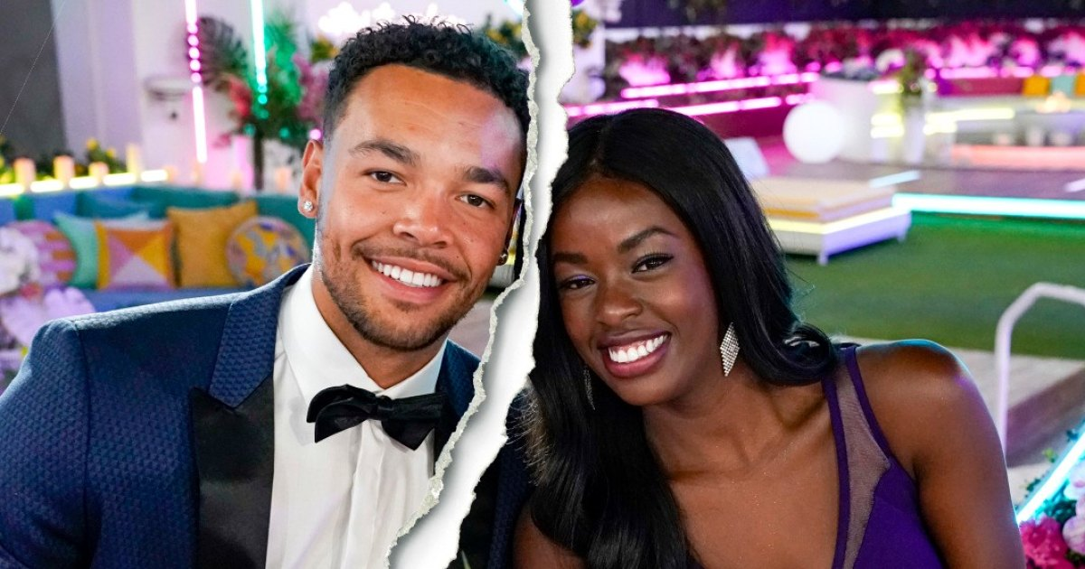Love Island's Justine Ndiba and Caleb Corprew Split