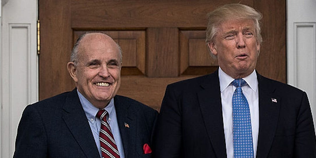 Rudy Giuliani realized he can't actually be Trump's impeachment lawyer because he's a witness in the case