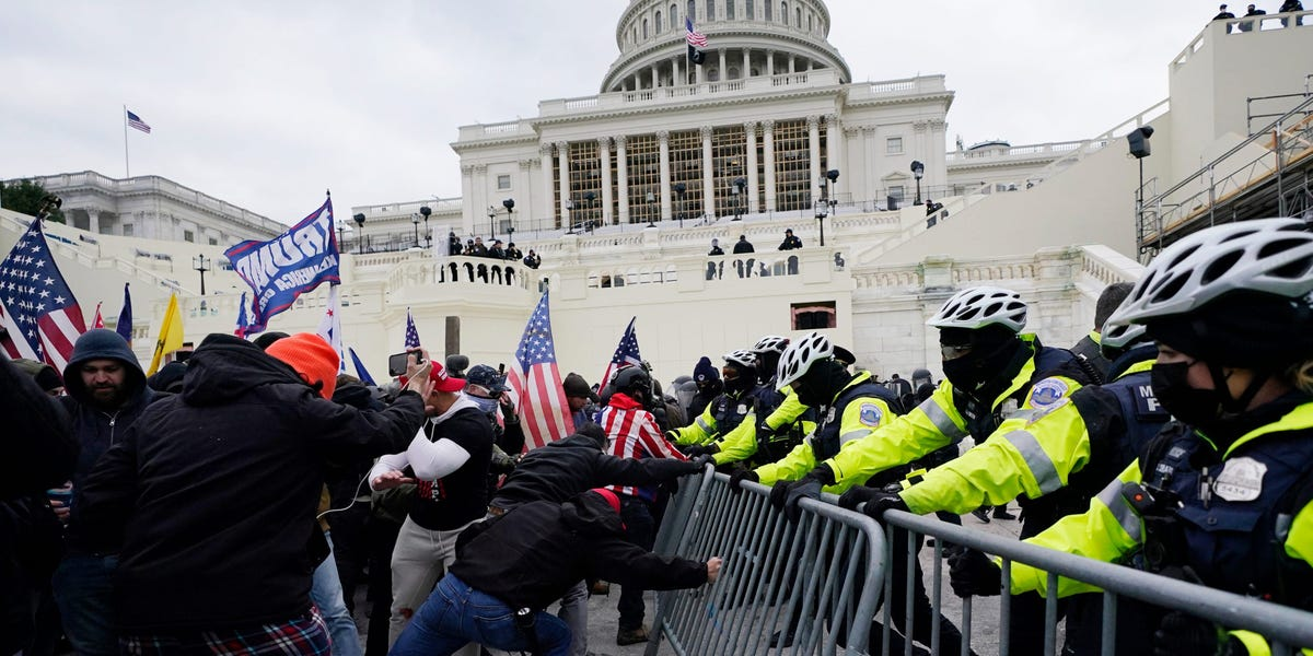 Fueled by the US Capitol siege, violent extremists with 'political grievances' will likely pose the 'greatest domestic terrorism threats in 2021,' intelligence report says
