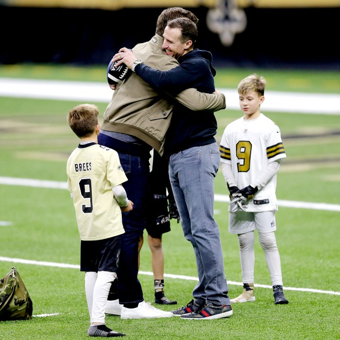 See Tom Brady Drew Brees Sweet Moment With Their Kids After Playoffs Game