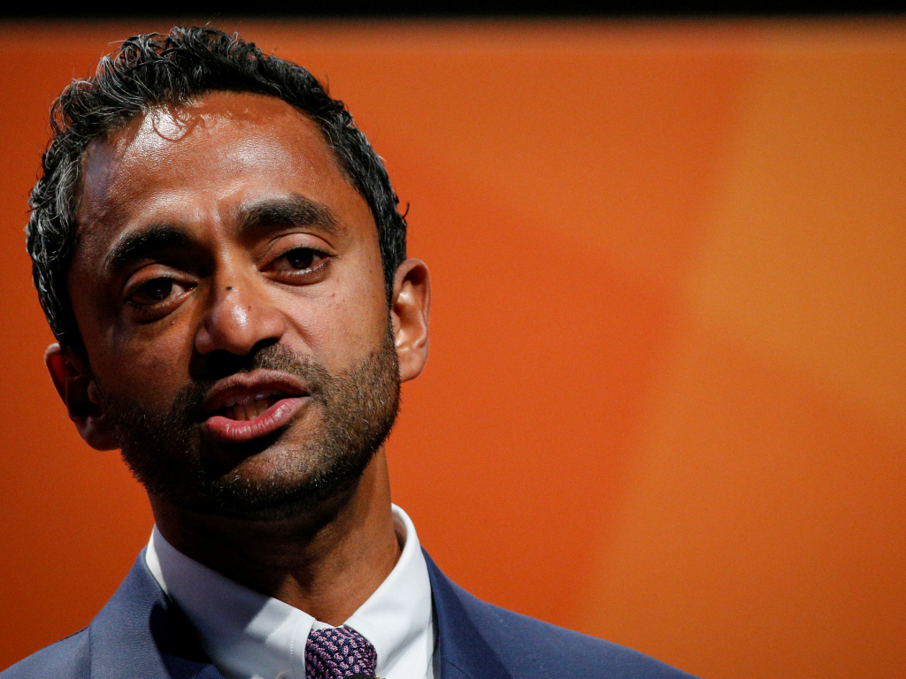 Chamath Palihapitiya Founder and CEO of Social Capital, presents during the 2018 Sohn Investment Conference in New York