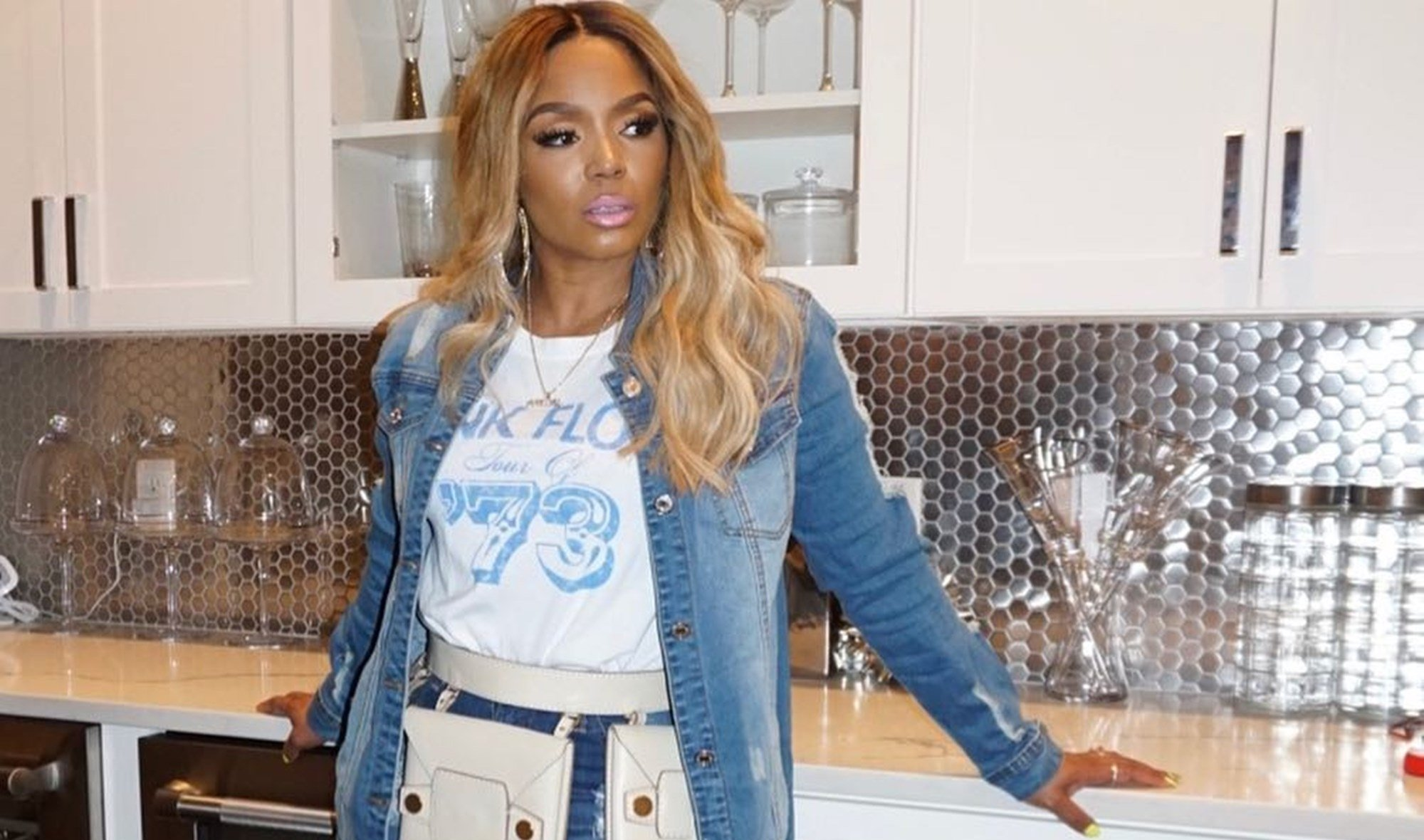 Rasheeda Frost Looks Gorgeous In This Black And White Outfit – See Her Clip