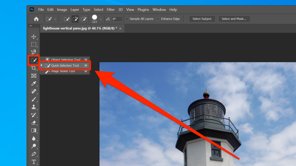 How to use quick selection tool in Photoshop 1