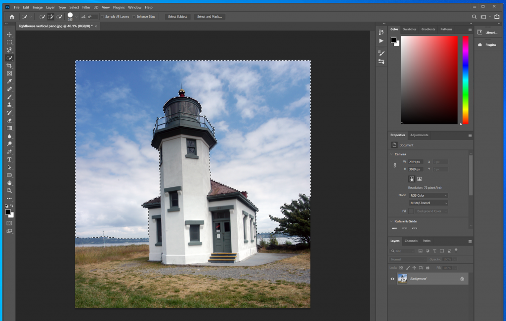 How to use quick selection tool in Photoshop 4