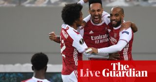 Europa League last-16 draw, weekend team news and more – live!