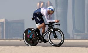Chris Froome rides for Israel Start-Up Nation on the second stage of the Tour of UAE.
