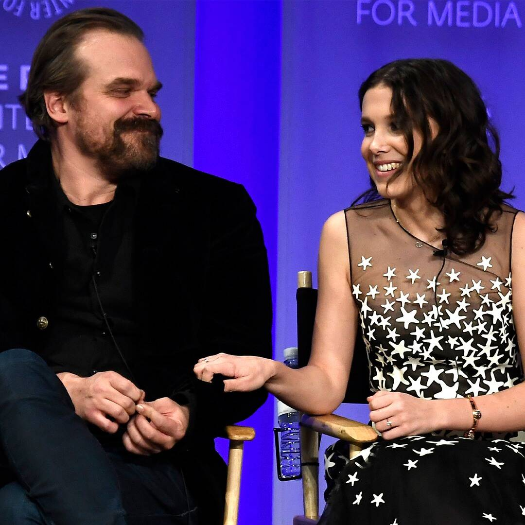 Millie Bobby Brown Hilariously Calls Out David Harbour After He Teases Stranger Things Spoilers