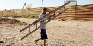 People are climbing over Trump's $15 billion border wall with $5 ladders