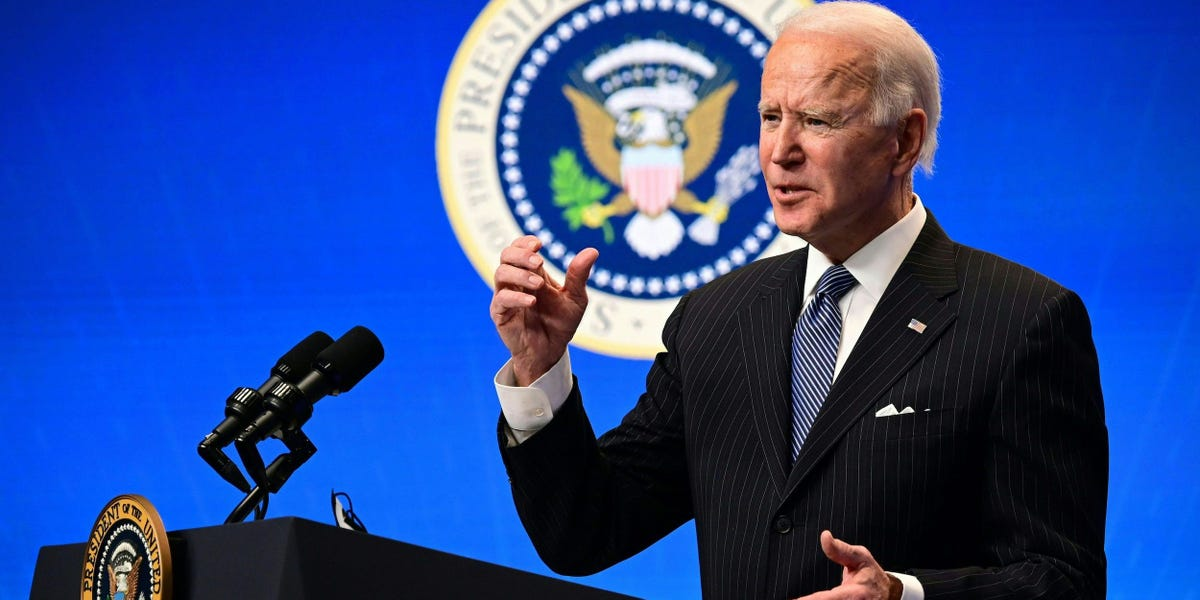 Biden has a major green challenge as figures show the US was the only major market to see electric vehicle sales fall in 2020