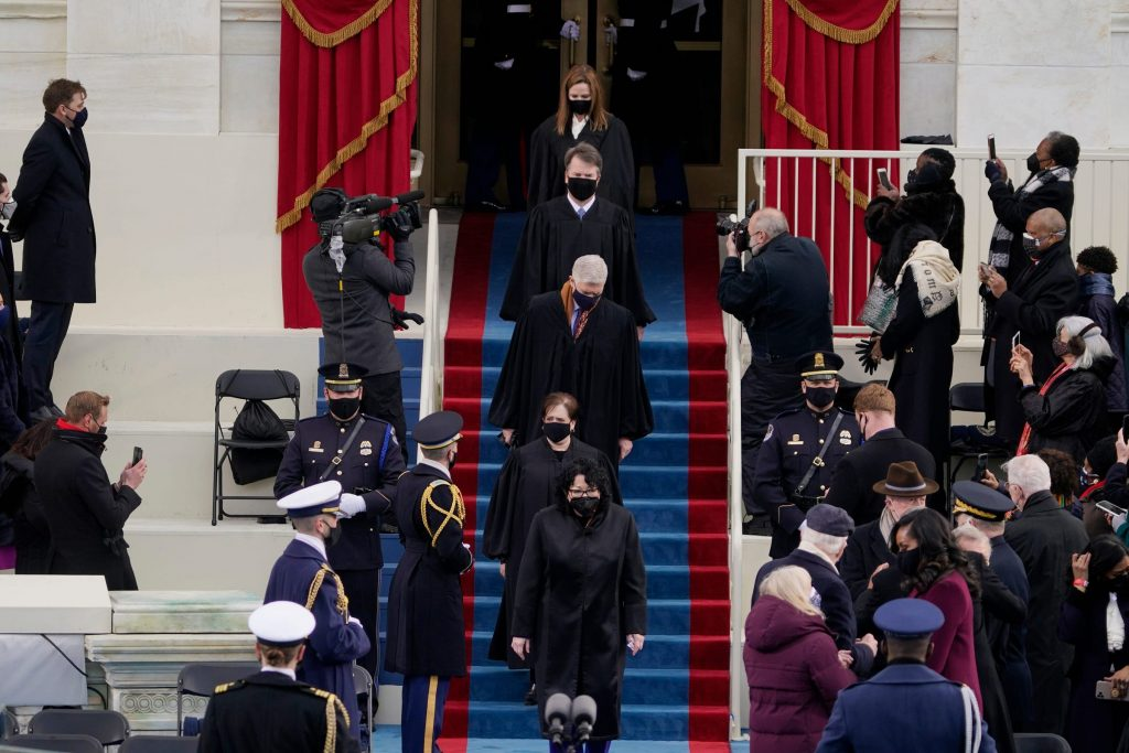 supreme court justices at inauguration