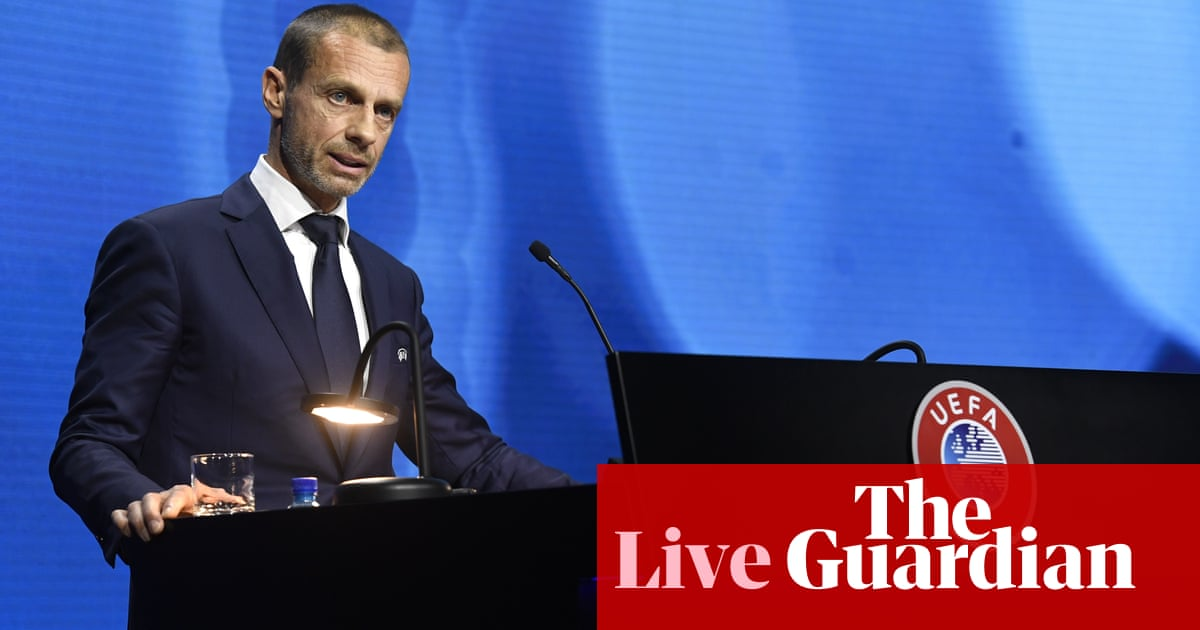 Uefa's Ceferin says Super League sides will 'suffer consequences' – live updates!