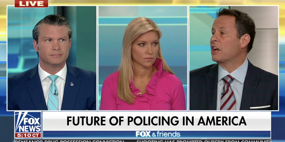 Fox New host Brian Kilmeade says anti-police protesters 'should be barred' from calling 911 after the Chauvin verdict